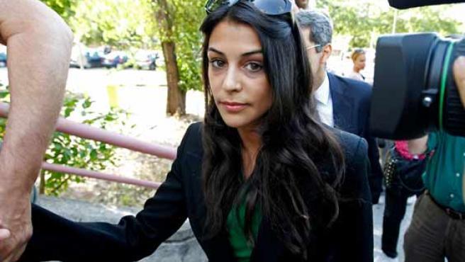 Sara Casasnovas, a su llegada al juicio.