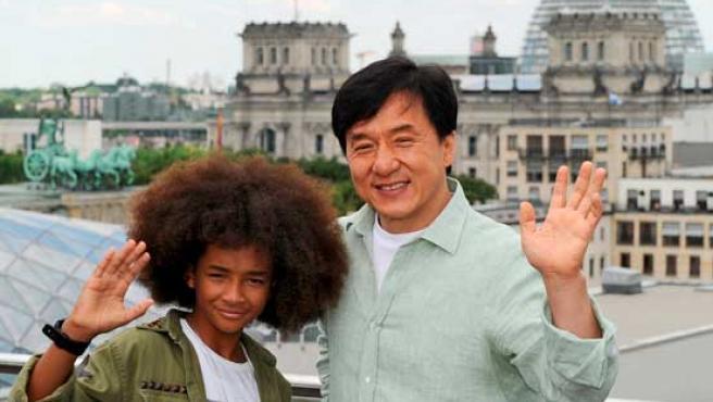 Jaden Smith y Jackie Chan.