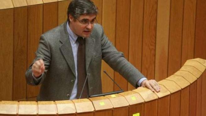 portavoz del Grupo Parlamentario del BNG, Carlos Aymerich