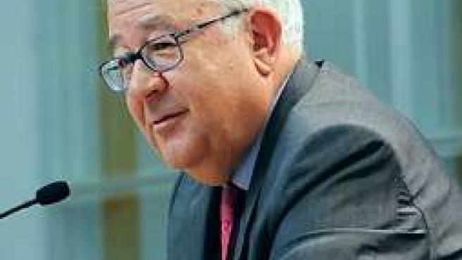 El vicepresidente de Aragón, José Ángel Biel, en el último Consejo de Gobierno d