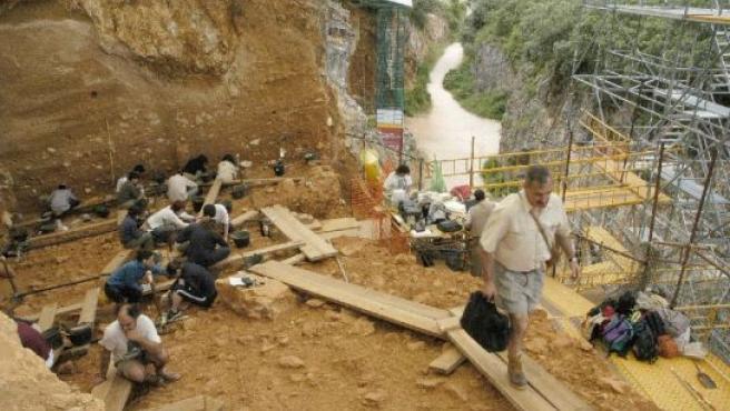 Vista general de unas excavaciones en Atapuerca.
