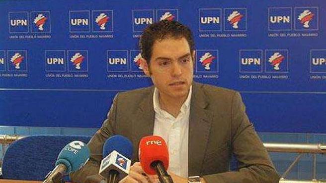Portavoz regionalista de UPN en Berriozar, Sergio Sayas
