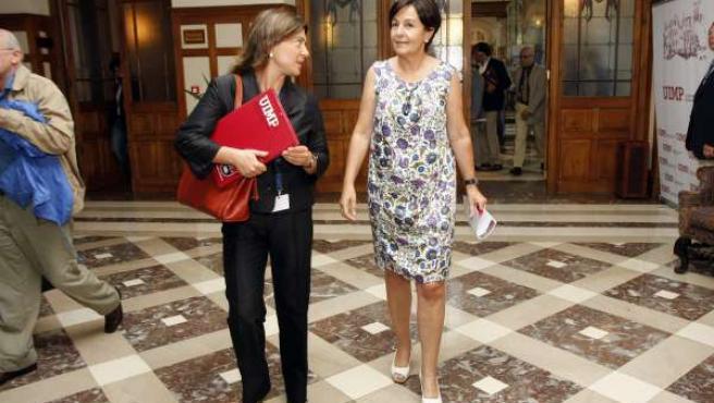 La Vicepresidenta de Cantabria, Dolores Gorostiaga, durante la inauguración del