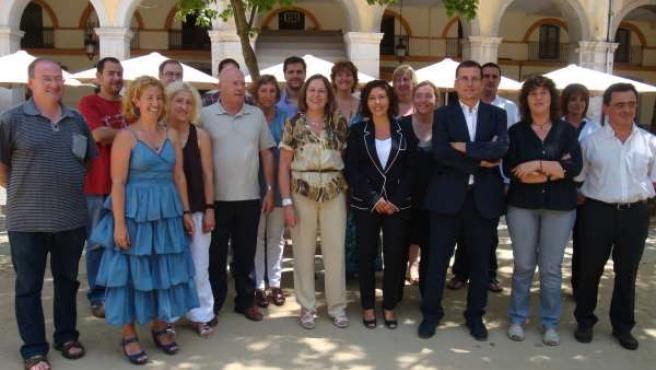 Carme Capdevila y el resto de la lista de ERC de Girona