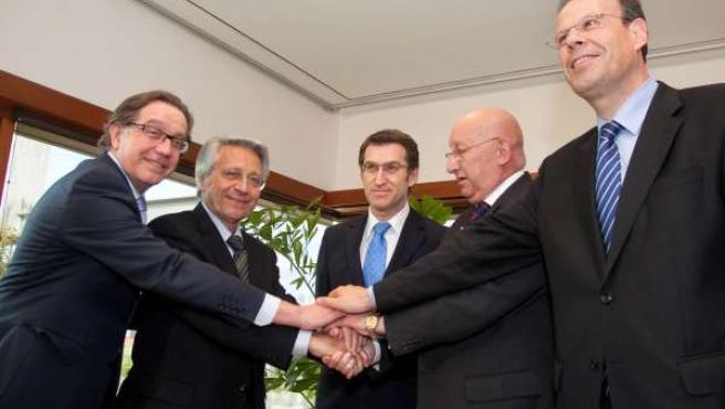 Acuerdo de fusión de las cajas gallegas