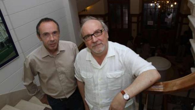 Javier Trueba y Juan Manuel García Ruiz en la UIMP