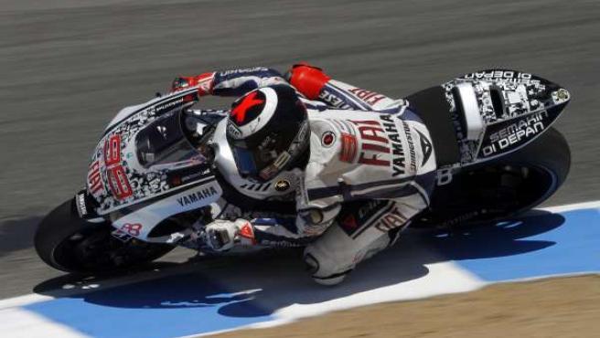 Jorge Lorenzo, piloto de Yamaha.