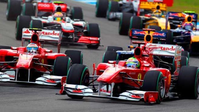 Fernando Alonso y Felipe Massa.
