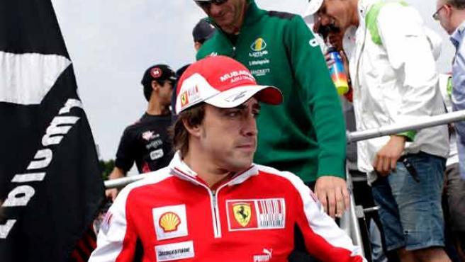 Fernando Alonso, durante el Gran Premio de Alemania.