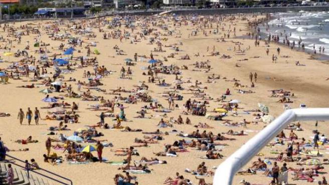 Playa del Sardinero, en Santander