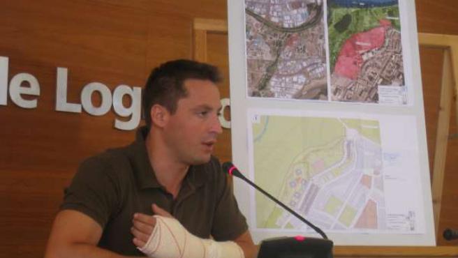 Gómez Ijalba, en la rueda de prensa