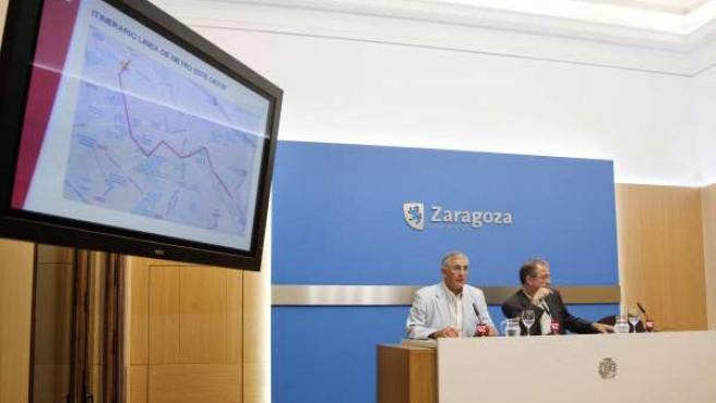 Presentación del trazado de la primera línea de metro de Zaragoza