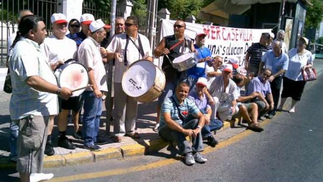 Protestas de los prejubilados de Mercasevilla.