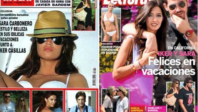 Las vacaciones de Sara Carbonero e Iker Casillas, en la prensa del 'cuore'.