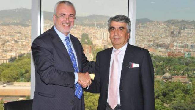 El director de distribución de Gas Natural Fenosa y el accionista de Corporación