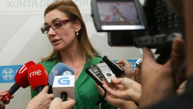 La conselleira de Facenda, Marta Fernández Currás