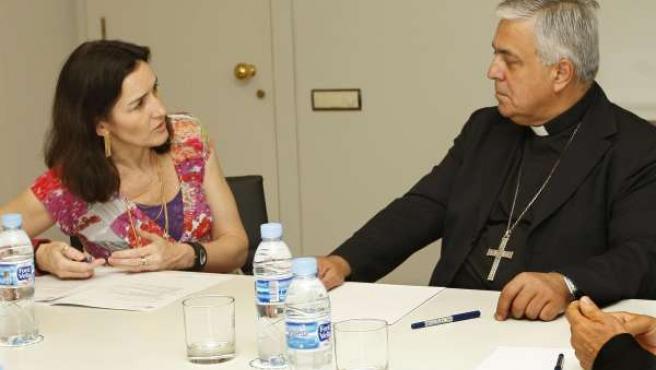 La ministra de Cultura, Ángeles González-Sinde, ha recibido hoy en su despacho d