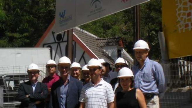 Colocación primera piedra hotel cuatro estrellas en Lanjarón