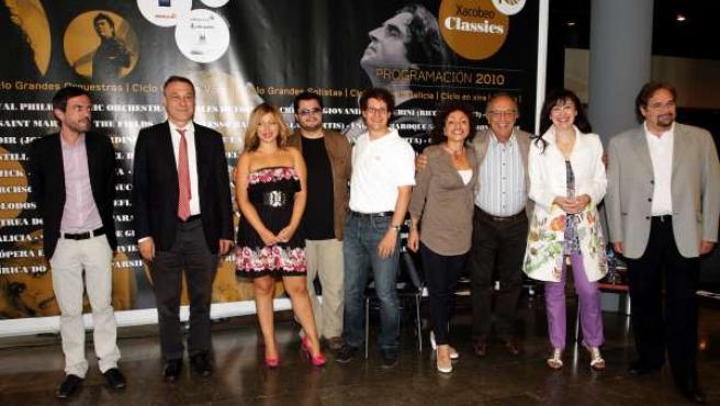 Roberto Varela junto a las estrellas de la Gran Gala Lírica