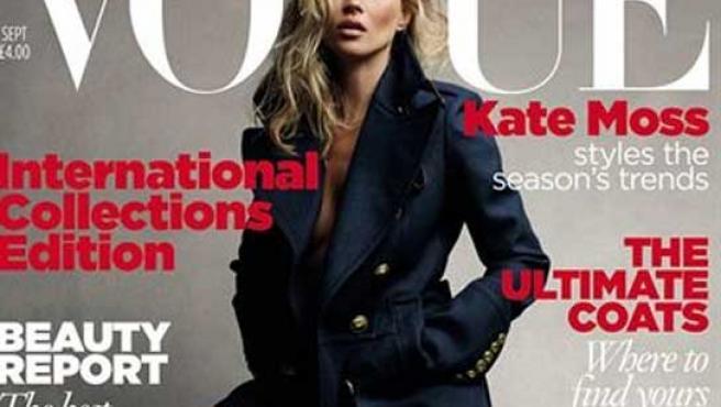 Kate Moss, en la portada de la revista.