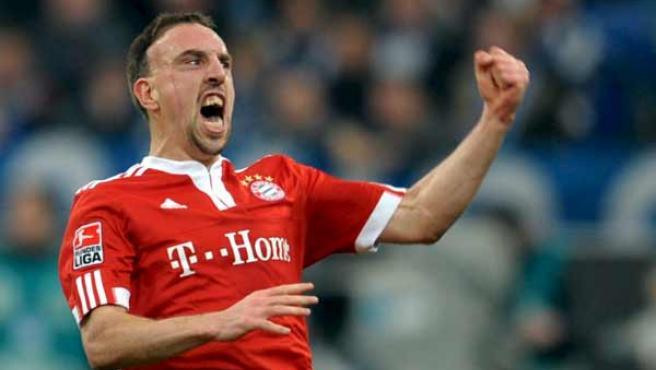 Franck Ribery, extremo del Bayern Munich.
