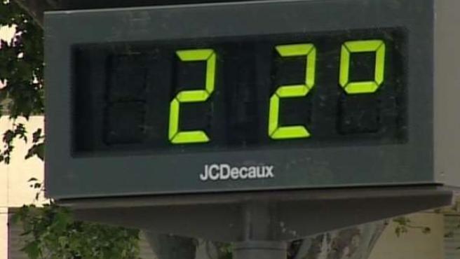 termómetro 22 grados