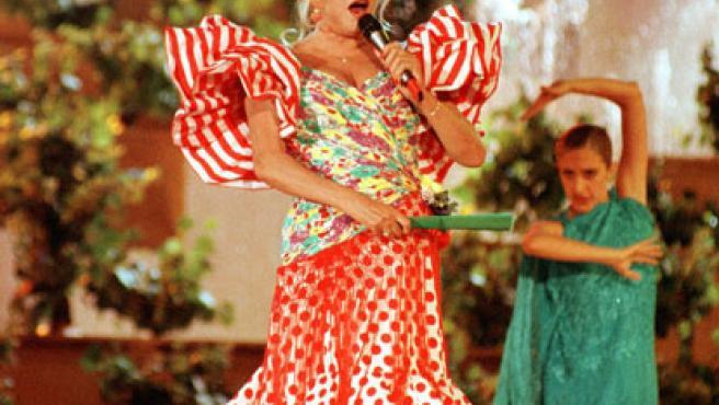 Rocío Jurado durante una actuación en una imagen de archivo.