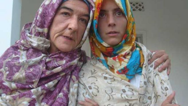 La médico española Mercedes García (i) y la enfermera argentina Pilar Bauzá (d), secuestradas en 2008.