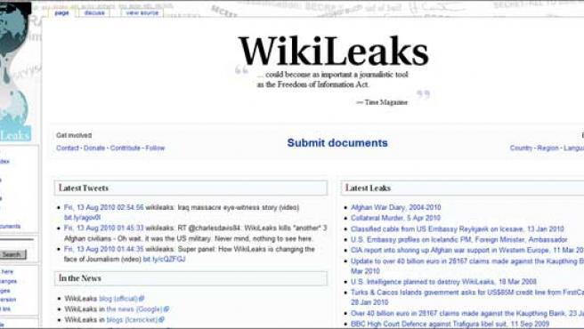 Portada de Wikileaks.
