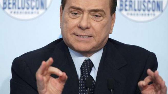 El primer ministro de Italia, Silvio Berlusconi.