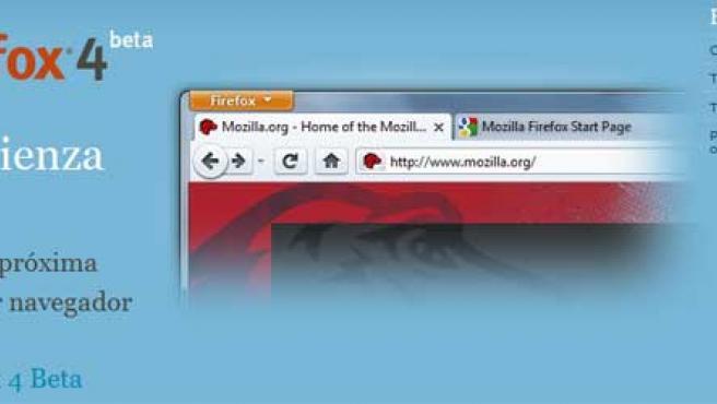 Firefox 4 ya está disponible en versión beta.
