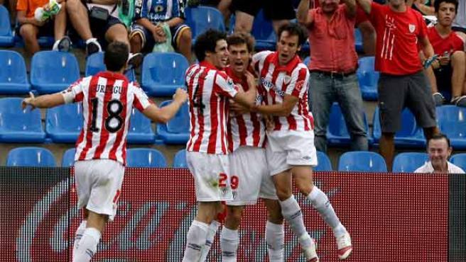 Fernando Llorente celebra su gol.
