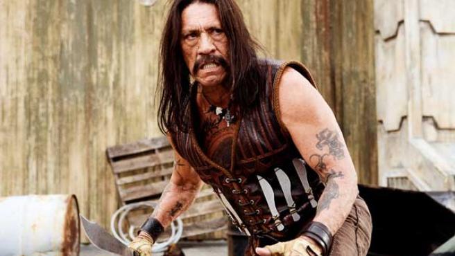 Fotograma del actor Danny Trejo en el papel protagonista de la película 'Machete'.
