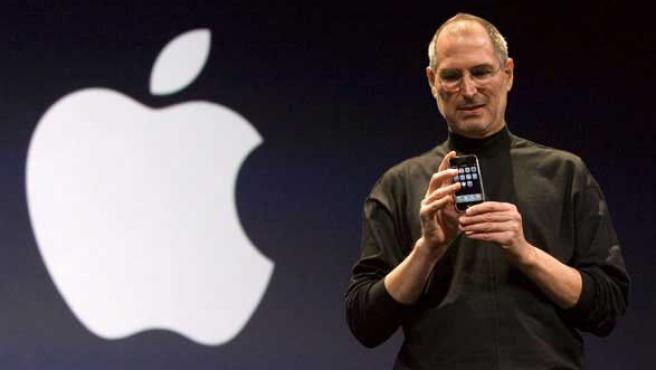 Steve Jobs durante un acto de presentación de Apple.