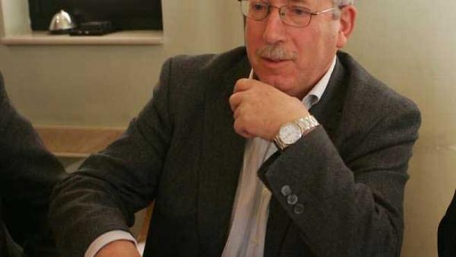 El secretario general de CC OO, Ignacio Fernández Toxo, durante una entrevista.