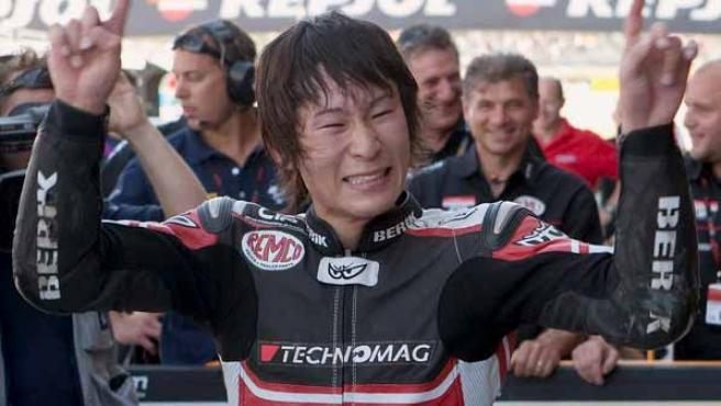 El piloto japonés de Moto2 Shoya Tomizawa, en una imagen de archivo.