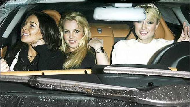 Paris Hilton, Lindsay Lohan y Britney Spears, de fiesta.