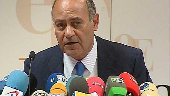 Gerardo Díaz Ferrán, durante su intervención en la presentación de un informe en Madrid.