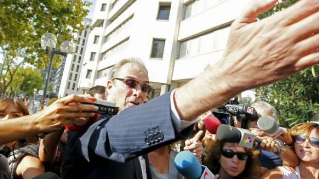 Jesús Neira, a su llegada a los juzgados de Plaza de Castilla.