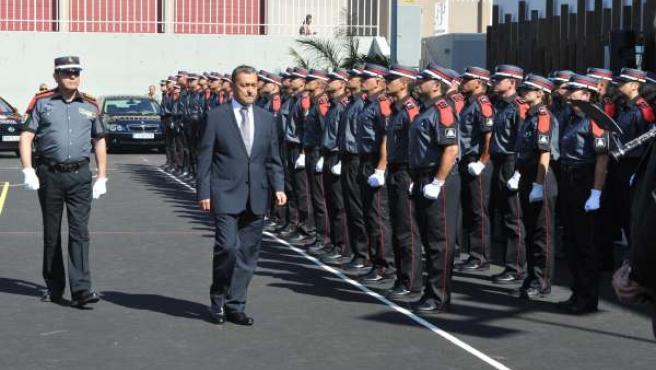 El presidente canario, Paulino Rivero, en el acto de presentación del Cuerpo Gen