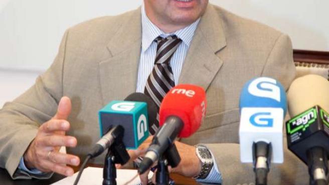 El conselleiro do Medio Rural, Samuel Juárez