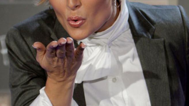Rosa López, durante la presentación de su disco 'Propiedad de nadie'.