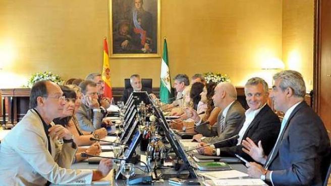 Primer Consejo de Gobierno celebrado en el rehabilitado San Telmo