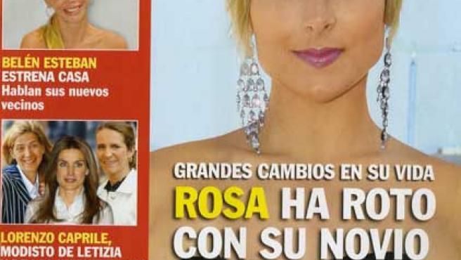 La duquesa de Alba y Alfonso Díez en la portada de la revista 'Pronto'.