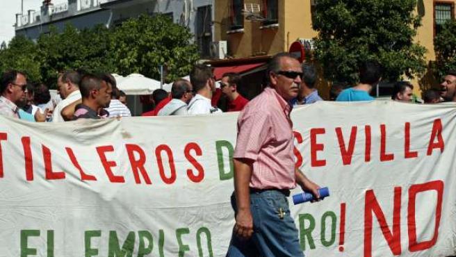 Manifestación de Astilleros en Hytasa