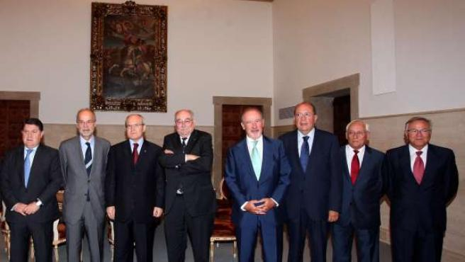 Montilla ha recibido a los presidentes de las cajas integrantes del SIP, en Barc
