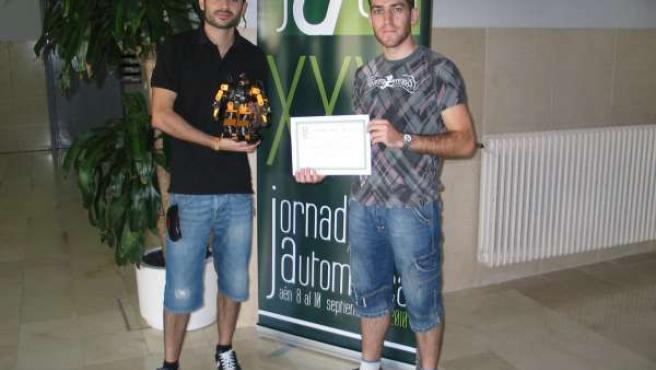 ganadores del V Concurso Nacional de Robots Humanoides.