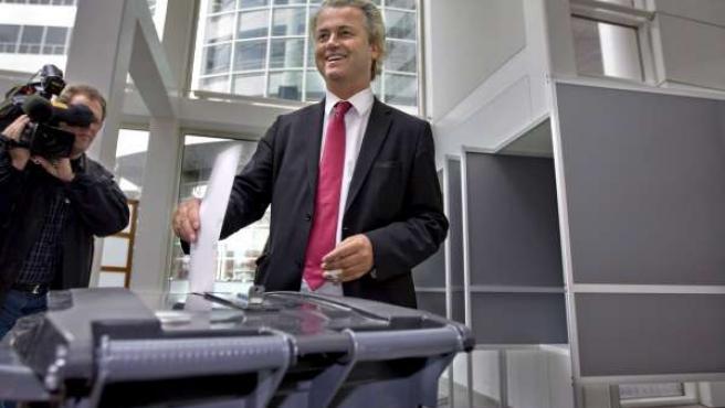 Geert Wilders, líder del partido antimusulmán y de extrema derecha holandés Libertad.