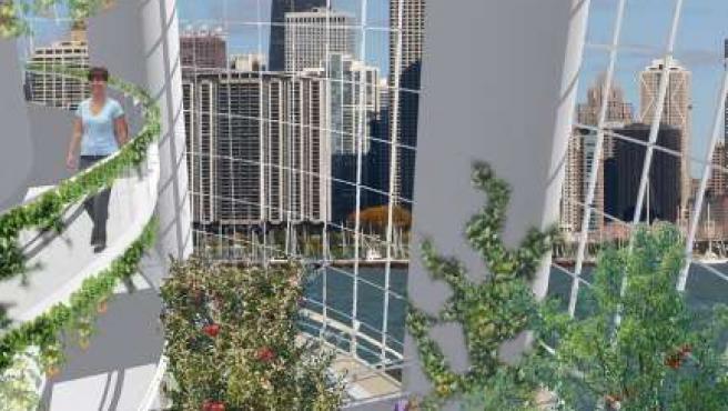 Proyecto de Vertical Farm, que aboga por convertir edificios abandonados en invernaderos urbanos.