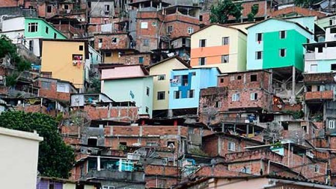 Una barriada de infraviviendas en Río de Janeiro.